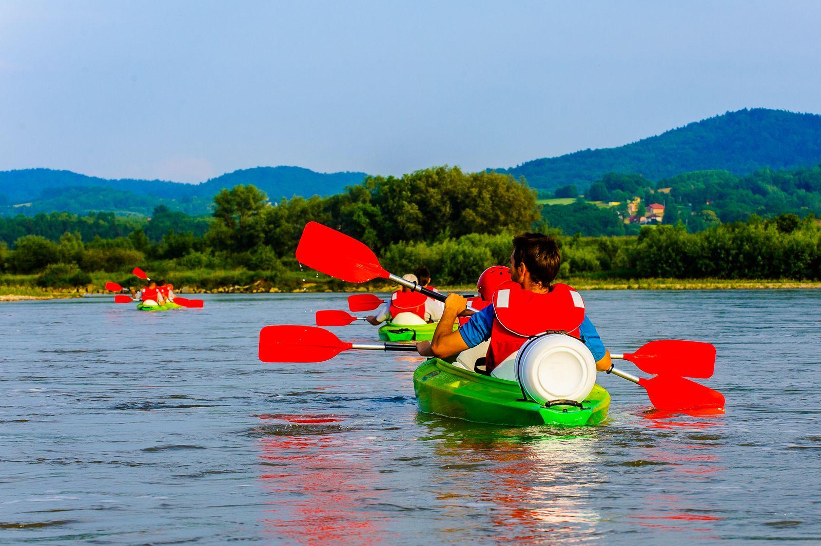 4-5h Spływ Dunajcem, trasa: Jurków – Isep koło Wojnicza