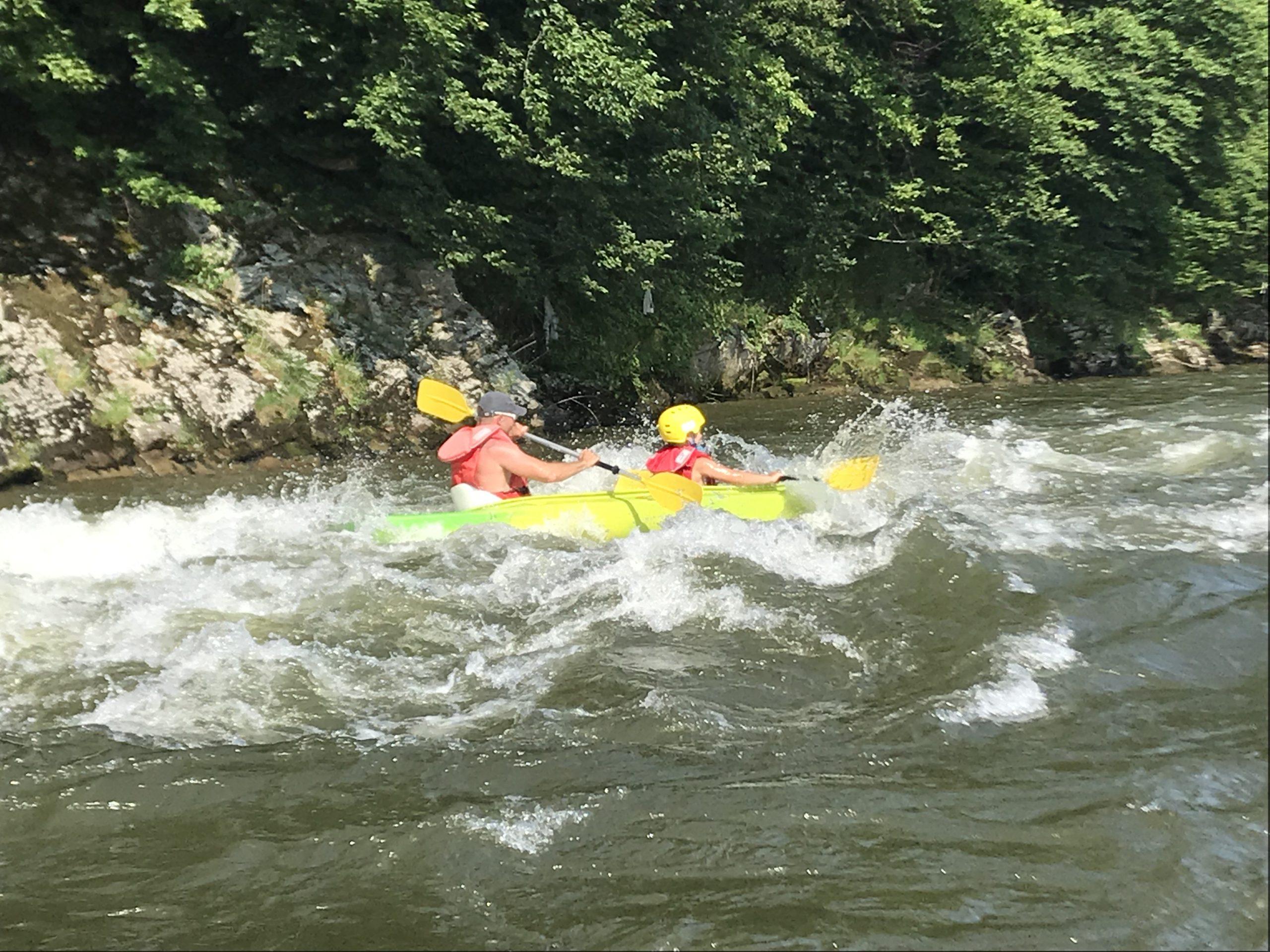 4-5h Spływ Przełomem Dunajca – trasa: Krościenko-Łącko-Jazowsko