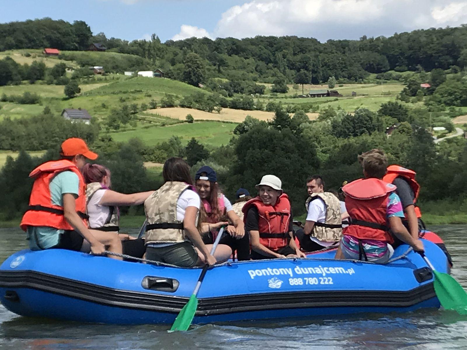 Rafting Dunajcem, trasa: Jurków – Isep koło Wojnicza